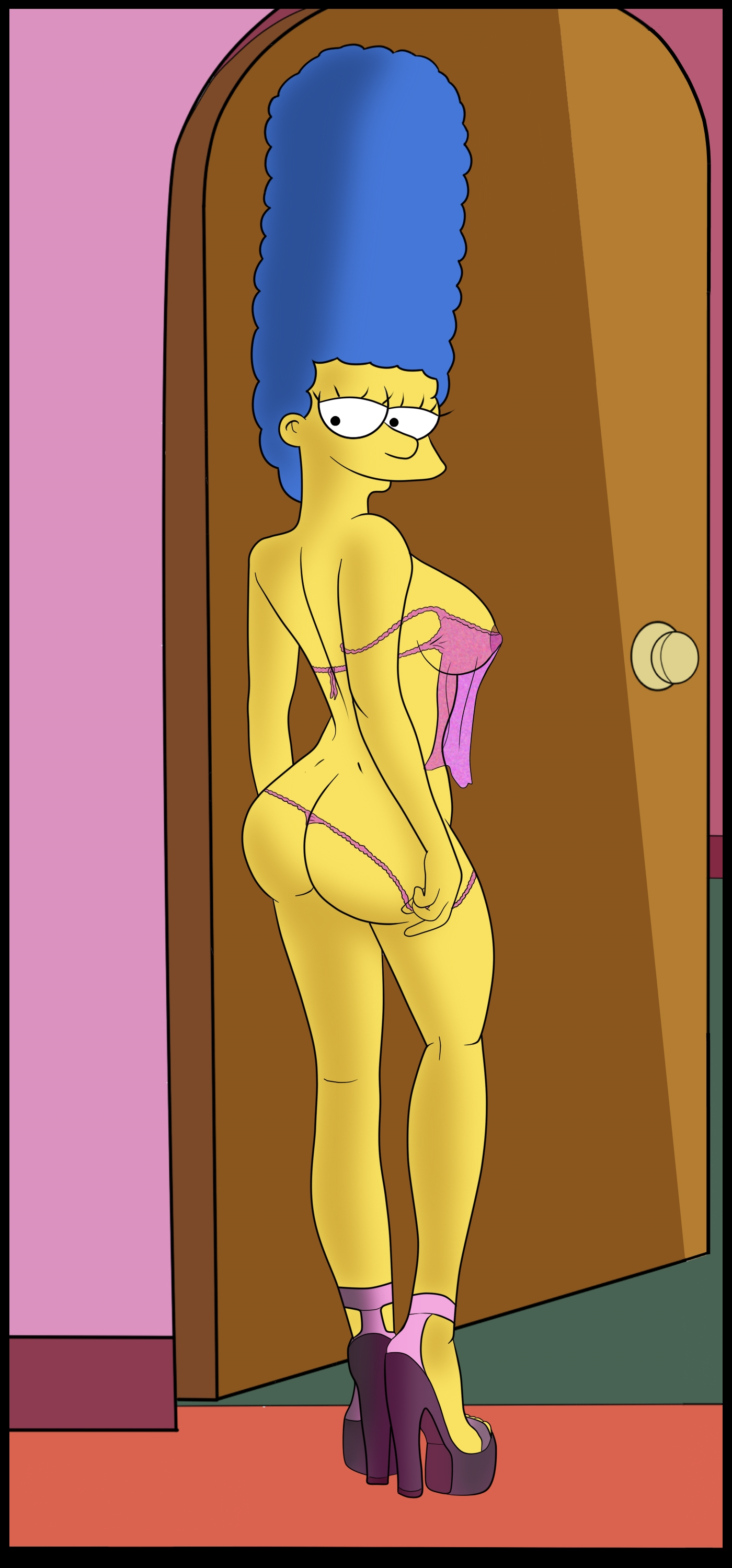 Marge Simpson likes her time seducing a banger in front of a bedroom ...