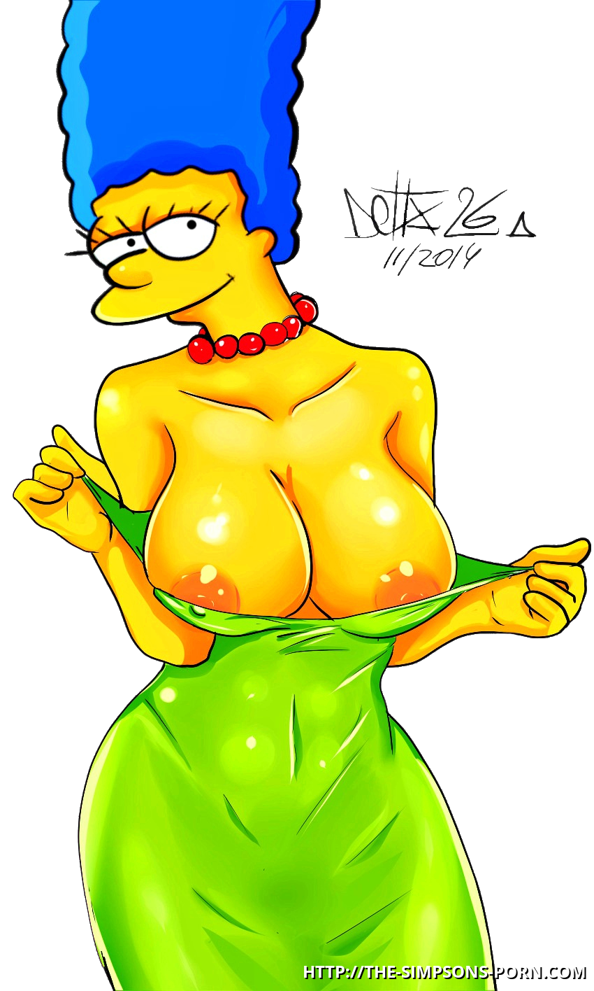 Marge simpson big boobs comic